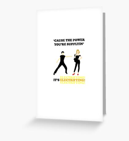 GREASE It's Electrifying! Design Greeting Card