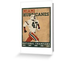 University of Miami National Champions  Greeting Card