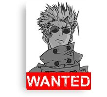 Vash Wanted Anime Manga Shirt Canvas Print