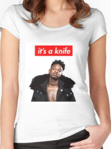 21 Savage - It's a Knife Women's Fitted Scoop T-Shirt
