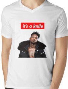 21 Savage - It's a Knife Mens V-Neck T-Shirt