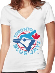America's Game - Toronto Blue Jays Women's Fitted V-Neck T-Shirt