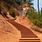 The Ochre Footpath - Roussillon by Robert Kelch, M.D.