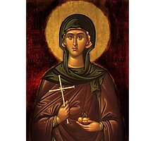 Saint Irene Vintage Icon Photographic Print