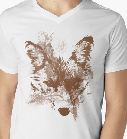 Benday Fox Mens V-Neck T-Shirt