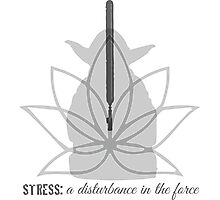 Stress: a disturbance in the force Photographic Print