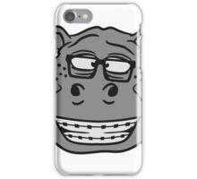 kopf gesicht nerd geek hornbrille schlau klug pickel freak zahspange lustig nilpferd dick groß comic cartoon  iPhone Case/Skin