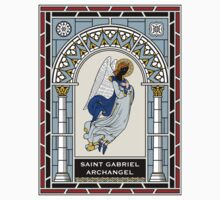 ST GABRIEL THE ARCHANGEL under STAINED GLASS One Piece - Short Sleeve