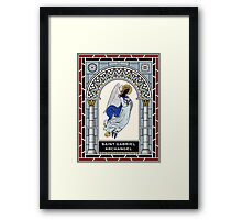 ST GABRIEL THE ARCHANGEL under STAINED GLASS Framed Print