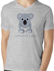 I swear Im a Bear cute funny Koala cartoon T-Shirt Mens V-Neck T-Shirt