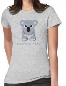 I swear Im a Bear cute funny Koala cartoon T-Shirt Womens Fitted T-Shirt