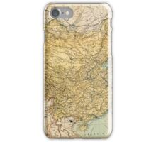 Map Of China 1900 iPhone Case/Skin