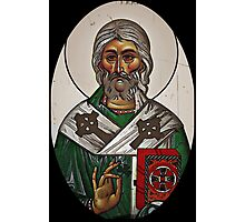 Saint Patrick and the Bible Icon Photographic Print
