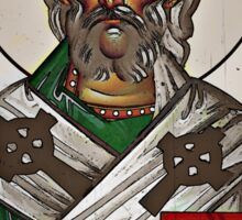 Saint Patrick and the Bible Icon Sticker