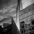 The Shard B&W by liberthine01