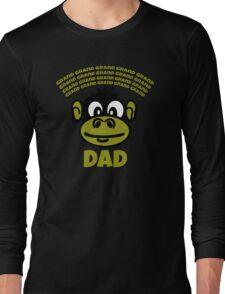 Funny Dad or Grandad Gift Cartoon Monkey Funny Text T-Shirt  Long Sleeve T-Shirt