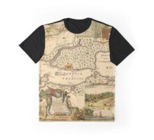 Map Of Halifax 1751 Graphic T-Shirt