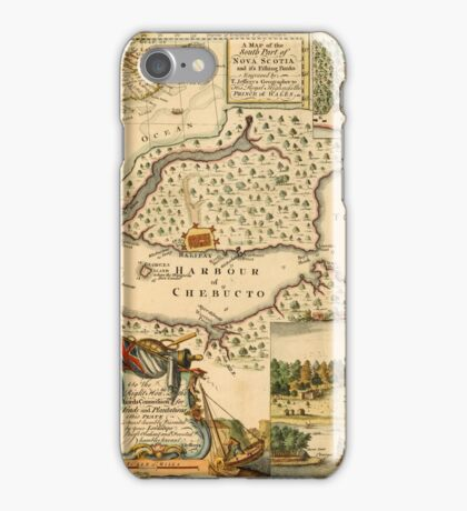 Map Of Halifax 1751 iPhone Case/Skin