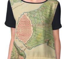 Map Of Havana 1762 Chiffon Top