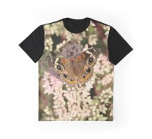 Buckeye Butterfly Macro Graphic T-Shirt