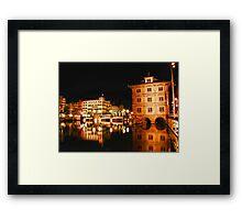 Night, Zurich, Switzerland. Framed Print