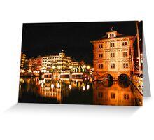 Night, Zurich, Switzerland. Greeting Card