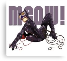MEOW! - CATWOMAN Canvas Print