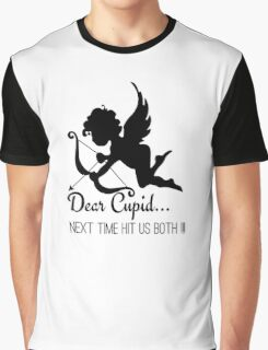 Cool Funny Ironic Love Joke Funny Cupid Text Graphic T-Shirt
