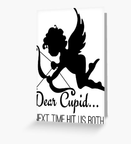 Cool Funny Ironic Love Joke Funny Cupid Text Greeting Card