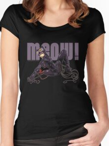 MEOW! - CATWOMAN Women's Fitted Scoop T-Shirt
