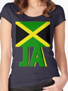 JAMAICAN Flag. JA Women's Fitted Scoop T-Shirt