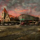 Train Station - NY Central Railroad depot 1905 by Mike  Savad