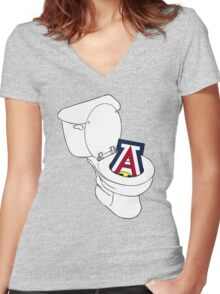 UofA Toilet - Gold Women's Fitted V-Neck T-Shirt