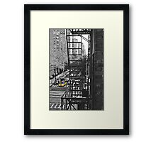 What's Black and White and Yellow all over? Framed Print