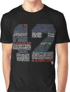 Hitchhiker's Guide 42 Quotes Graphic T-Shirt