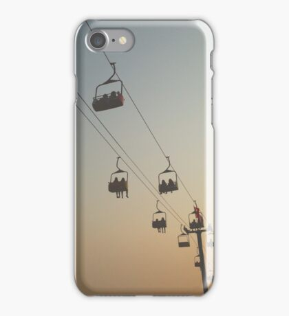 Sunset Ski Lift  iPhone Case/Skin