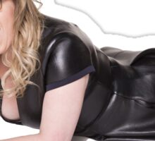 Kirsten Vangsness laying on the floor and looking really hot Sticker