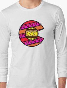 Colorado Tribal Flag: Pinks Long Sleeve T-Shirt