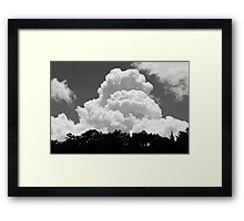 Black And white Sky With Building Thunderhead Storm Clouds Framed Print