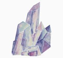 Watercolor Crystals (Blue Hue) Kids Tee