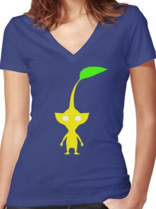 Yellow Pikmin Women's Fitted V-Neck T-Shirt