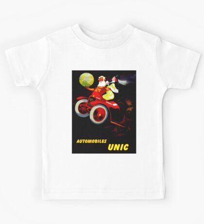 """UNIC AUTOMOBILES"" Vintage Advertising Print Kids Tee"