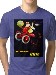 """UNIC AUTOMOBILES"" Vintage Advertising Print Tri-blend T-Shirt"