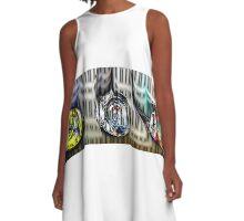 Heliotropic Teardrops A-Line Dress