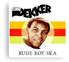 Desmond Dekker Is A Rude Boy Ska Canvas Print