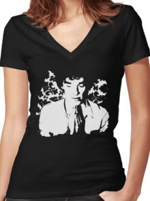 In His Mind Palace Women's Fitted V-Neck T-Shirt