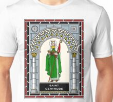 ST GERTRUDE THE GREAT under STAINED GLASS Unisex T-Shirt