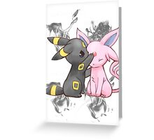 Espeon and Umbreon Greeting Card