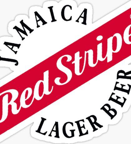 Jamaica Red Stripe Lager Beer Sticker