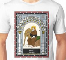 ST GILES, THE ABBOT under STAINED GLASS Unisex T-Shirt